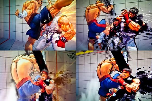Street Fighter IV Retail Xbox 360 Training Mode Sagat Ryu
